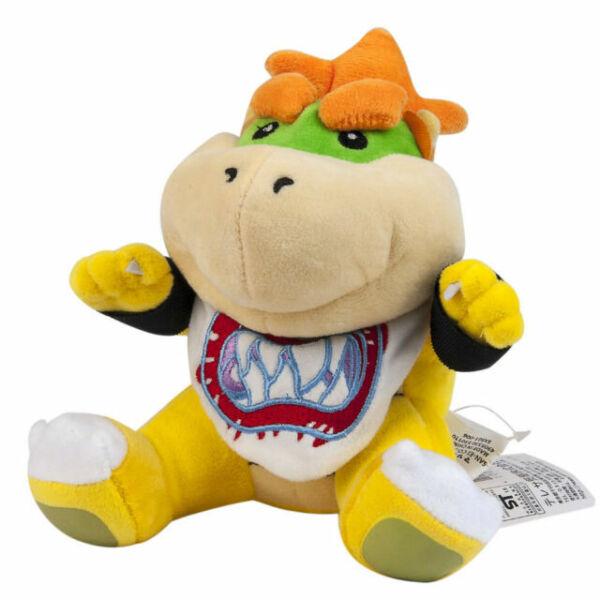 Sitting Bowser Koopa Jr NEW Super Mario Bros Stuffed Plush Doll Toy 7 inch