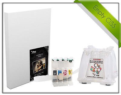 Rihac Empty Sublimation CISS /& A4 SUB Paper Deal Epson WF-2510 WF-2520 WF-2530