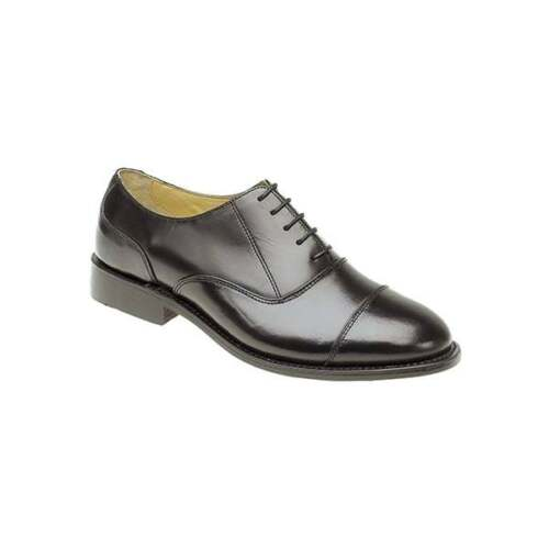 Kensington WILSON Mens 100/% Leather Luxury Formal Lace Up Oxford Shoes Black