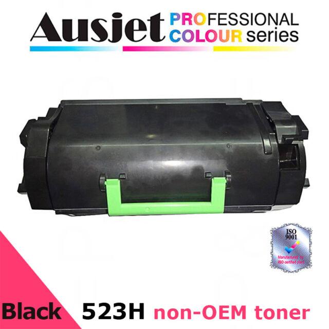 Ausjet 523H non-OEM new BLACK Toner for LEXMARK MS810 MS811 MS812, 25000 pp