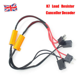 Details about 2X 50W H7 Car LED DRL T Load Resistor Canbus Error Free on