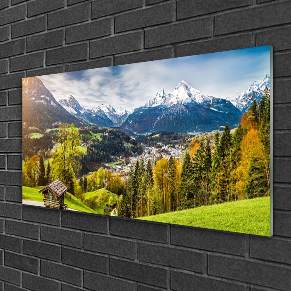 Image sur verre Tableau Impression 100x50 Paysage Alpes