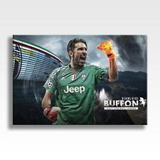 """Gianluigi BUFFON tela JUVENTUS FC Wall Art Poster in Tela 30""""x20"""""""