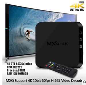 V88 TV MXQ-4k TV BOX MXQpro Quadcore 4K Wifi HDMI Android 6.0 Smart set-top box