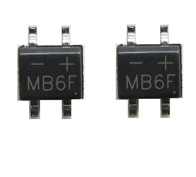 50PCS MB6F 0.5A/600V SOP4 Bridge Rectifier C
