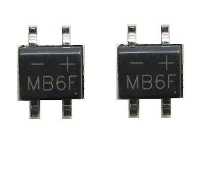 50PCS MB6F 0.5A/600V SOP4 Bridge Rectifier C