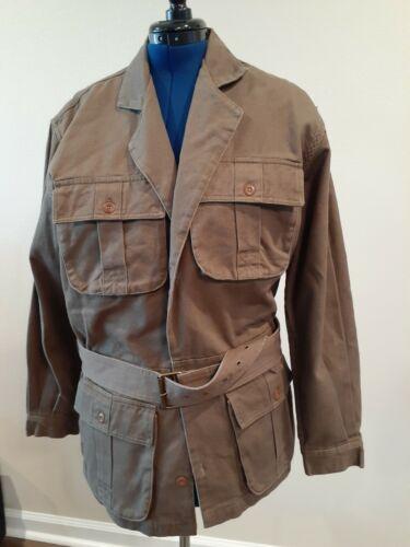 Men's Orvis Army Green Belted Safari Jacket Large