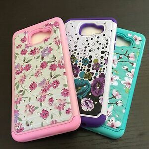 For-Samsung-Galaxy-A5-Flower-Diamond-Hybrid-Hard-Impact-Armor-Case-Cover-Skin