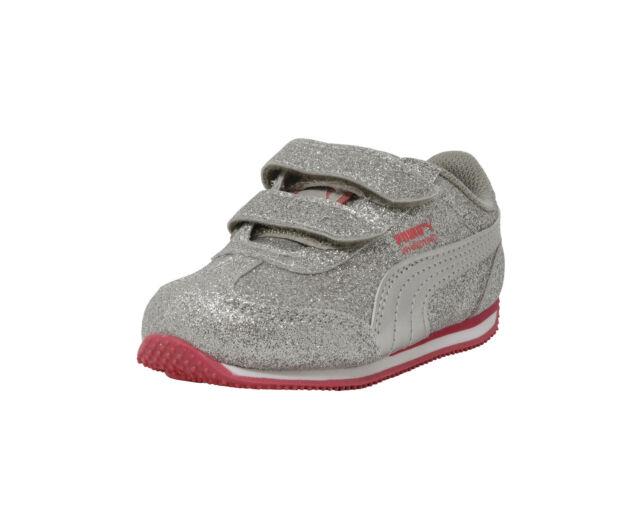 e7e8e1c5e22f PUMA Shoes Girls Whirlwind Glitz V Toddler Infant Baby Kids Silver Pink  Sneaker