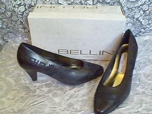 0fba1b41981c Image is loading BEAUTIFUL-Bellini-Design-Embossed-Black-Pumps-Heel-Shoes-