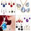Women-Heart-Pendant-Choker-Chain-Crystal-Rhinestone-Necklace-Earring-Jewelry-Set thumbnail 1