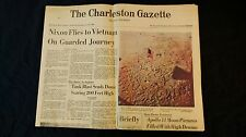 1969 Apollo 11 Pictures Old Glory Footprint On Moon Charleston Gazette Newspaper