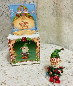 Enesco-North-Pole-Village-Elf-Beamer-1986-Zimnicki-Tree-Trimmers-Series-With-Box