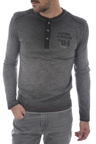 Effect Bora a Delave maniche Black lunghe Kaporal T shirt zCwqaa