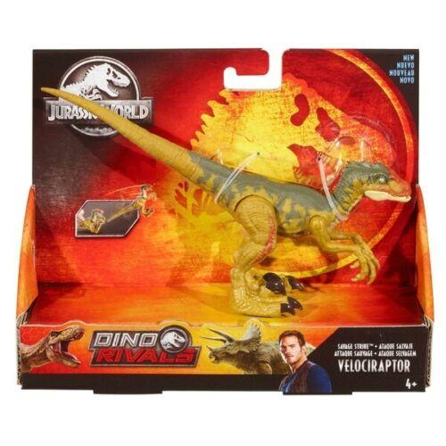 Jurassic World Dino Rivaux Savage Strike Velociraptor Dinosaure figurine