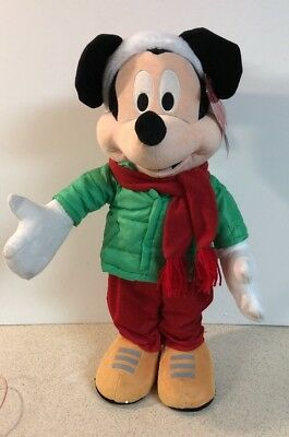 """Minnie Mouse Disney Doll Gemmy 23"""" Porch Door Greeter Christmas Holiday Decor"""