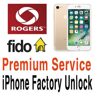 8 7 SE 6S 6 5S 5C 5 4S Premium Rogers Fido Factory Unlock Service iPhone X 8