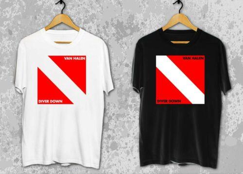 VAN HALEN Diver Down Album Logo Men/'s T-Shirt S-2XL