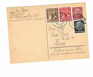 Deutsches reich überfrankierte GA carte à partir de Munich à Buin Chili avec Akst-afficher le titre d`origine 6kUETXih-07140542-331401939