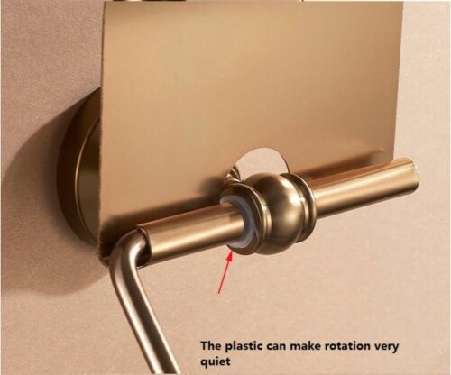 LUXURY GOLD METAL BRASS STYLE TOILET PAPER HOLDER COVER DIY ANTIQUE BATHROOM