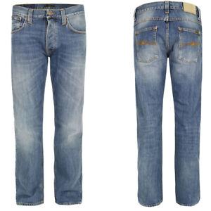 Neu-Nudie-Herren-Regular-Straight-Fit-Jeans-Hose-Average-Joe-Vacation-Worn
