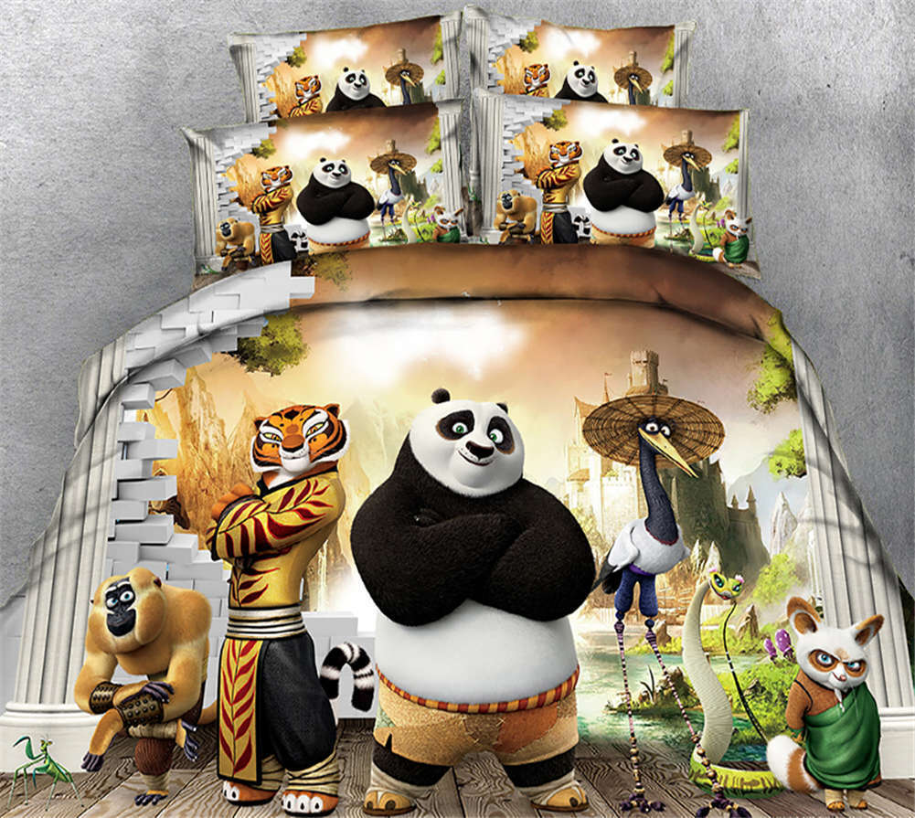 Kung Fu Panda 3D Printing Duvet Quilt Doona Covers Pillow Case Bedding Sets