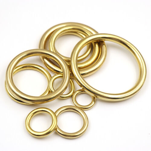Solid Brass Cast Closed O Rings Bags Collars Crafts 13 16 20 25 28 32 38 45 51mm
