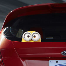 Despicable ME 2 Minion BOB Peeking Color Vinyl Decal Car Sticker Bumper Gift New