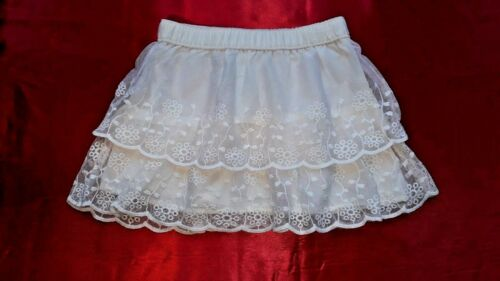 CARTER/'S Pretty Girls Tulle Skirt age 4 Years IVORY FLORAL NET LACE LINED SKIRT