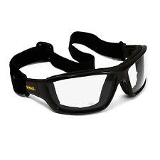 Dewalt Converter Safety Glasses Goggles Clear Anti Fog Lenses Foam Padded