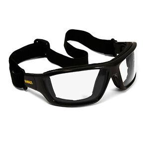 Dewalt-Converter-Safety-Glasses-Goggles-Clear-Anti-Fog-Lenses-Foam-Padded