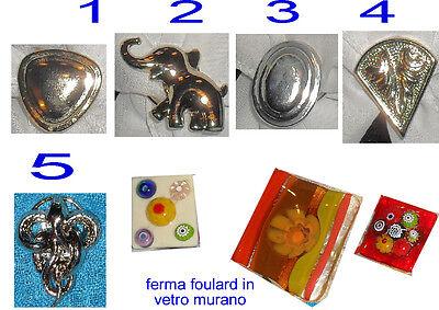ferma foulard cuore bagno oro artigianale anche su ruchiesta argento made italy