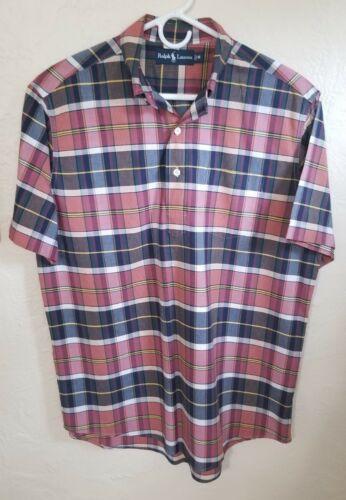 Polo Ralph Lauren Men's Madras Popover Shirt Size