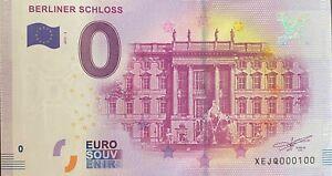 BILLET-0-EURO-BERLINER-SCHLOSS-1-ALLEMAGNE-2017-NUMERO-100