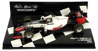 Minichamps Haas F1 Team Vf 16 2016 Esteban Gutierrez 1 43 Scale 4012138136809 Ebay