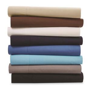 Flat-Sheet-Count-200-Thread-Bold-Color-Convenient-Storage-Pouch-Crisp-Cotton