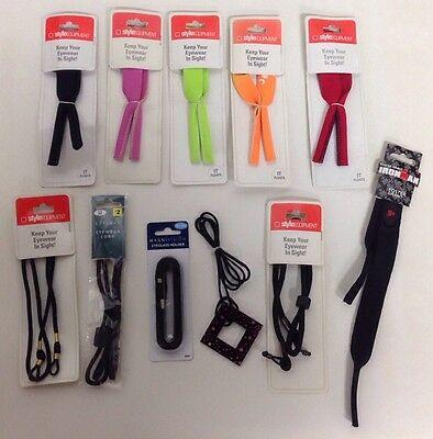 Wholesale Lot- 100 Eyeglass / Sunglass Eyewear Cords Assorted colors New