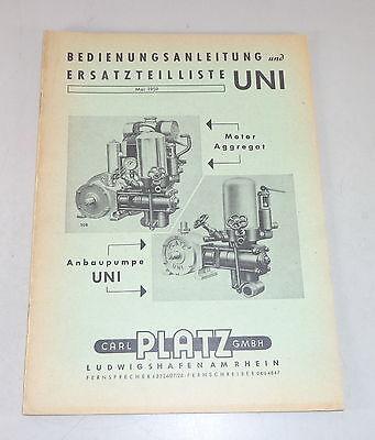 Business & Industrial Catálogo Piezas Sitio Bomba Motor Uni Soporte 05/1959 Manual De Instrucciones