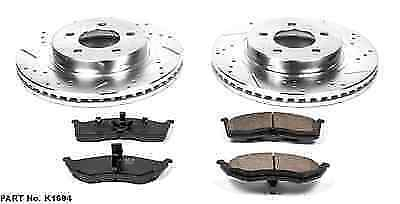Power Stop K6653 Front Z23 Evolution Kit with Drilled//Slotted Rotors and Ceramic Brake Pads