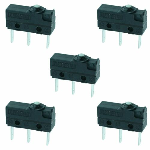 5 x Push Button Waterproof Microswitch SPDT 3A Micro Switch