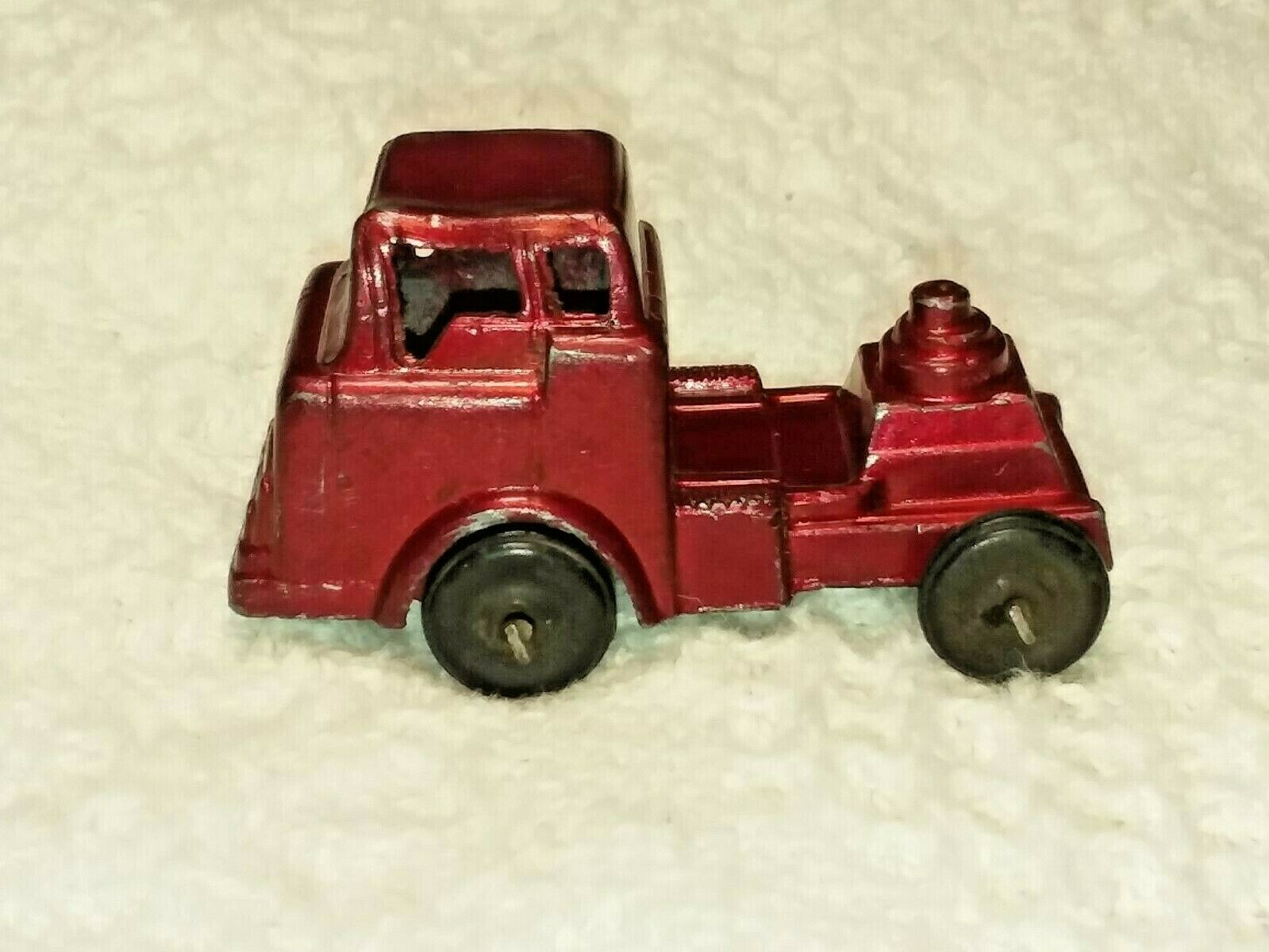 Vintage Barclay Slush Cast Metal Toy Transport Truck