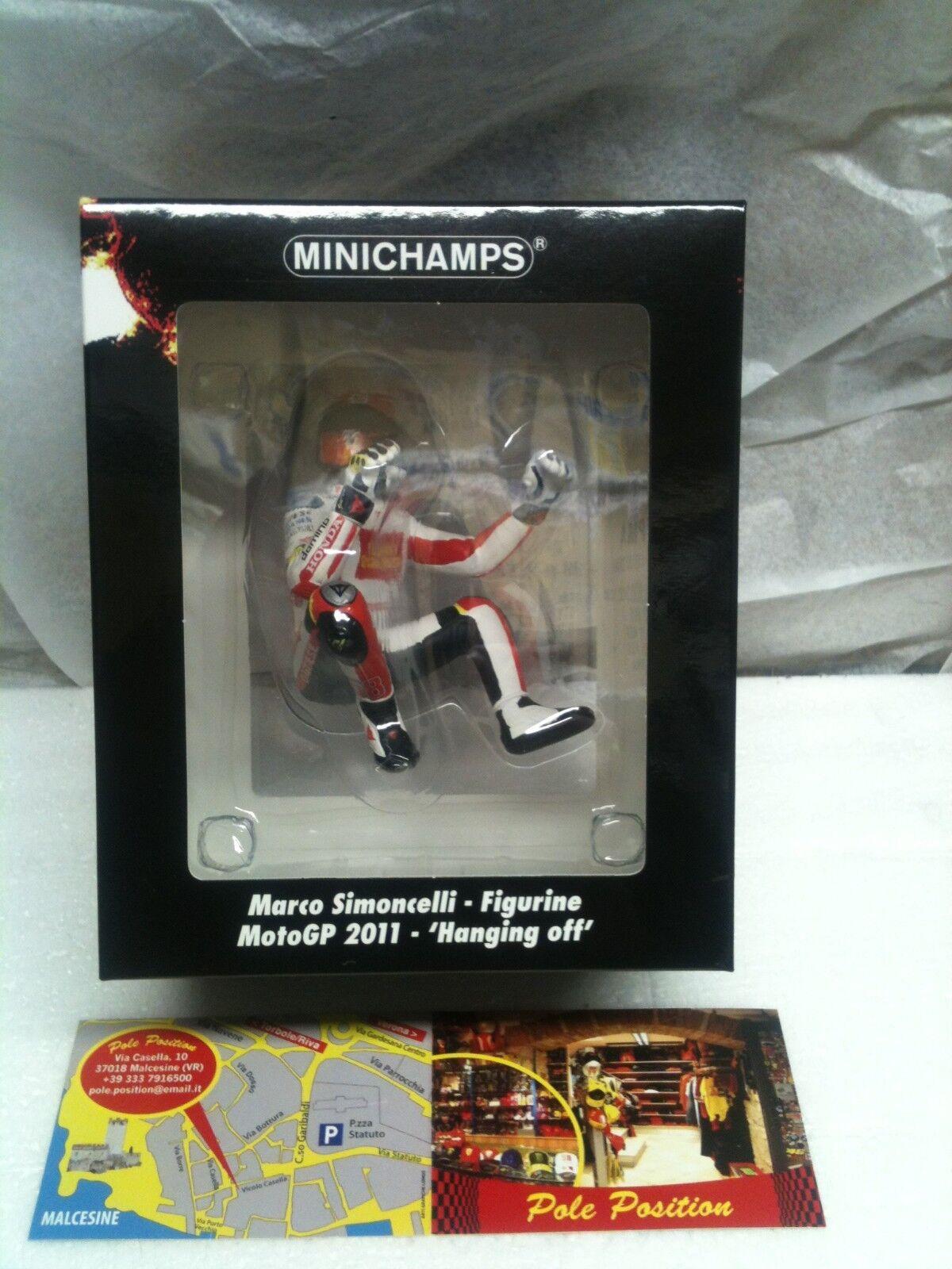 MINICHAMPS 1 12 FIGURINE SIMONCELLI MOTOGP 2011 -´HANGING OFF´ L.E. 1158 pcs.