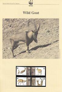 WWF003) WWF Panda, set of 4 FDC & set of 4 mint stamps, Wild Goat, Armenia