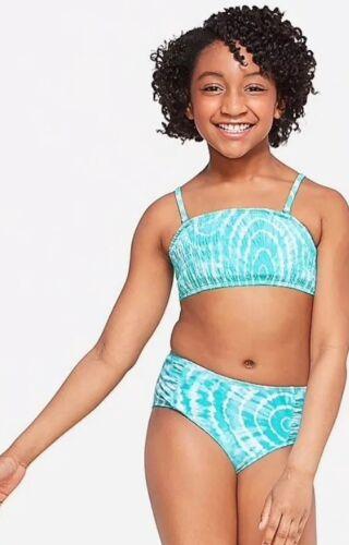 New Justice Sz 8 Swimsuit Bikini Blue Girls Swim Wear 2 Piece Bathing Suit NWT