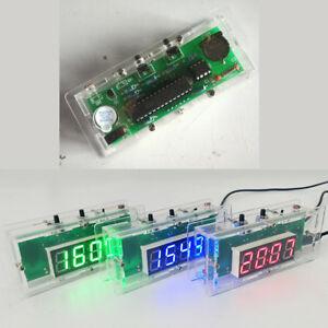 electronics clock led diy 4 digit temperature time digital clock kitimage is loading electronics clock led diy 4 digit temperature time
