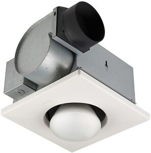 bathroom ceiling exhaust fan light infrared 1 bulb 250w. Black Bedroom Furniture Sets. Home Design Ideas