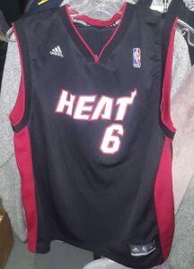 online retailer dd196 b897d Details about Miami Heat LeBron James #6 Jersey Adidas NBA Basketball Black  Youth XL