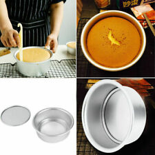 3 Size Aluminum Alloy Removable Bottom Round Cake Baking Mould Pan Bakeware Tool