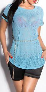 NUEVO-KOUCLA-Camisa-De-Ganchillo-Cinturon-ketten-reisverschluss-Camiseta-Sale