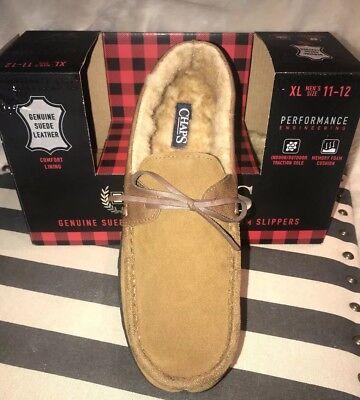 11//12 INDOOR-OUTDOOR Slipper New. CHAPS MEMORY FOAM Suede Leather MEN/'S XL